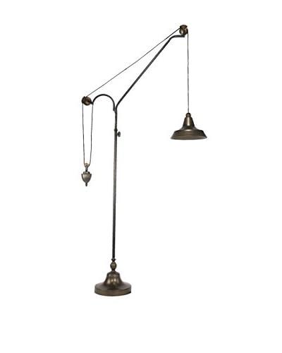 A & B Home Counterbalance 1-Light Floor Lamp, Golden