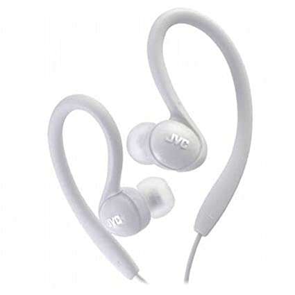 JVC HAEBX85W Inner Ear Sports Clip Headphone