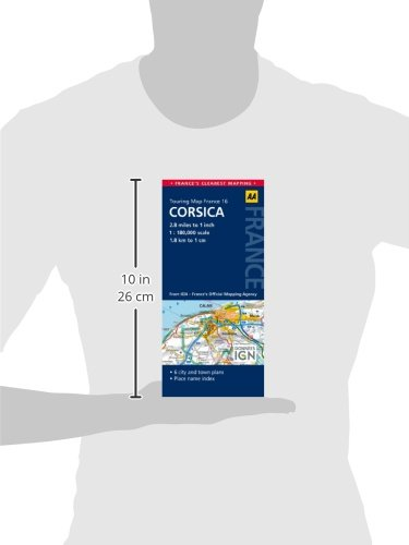 16. Corsica: AA Road Map France (Aa Road Map France 16)