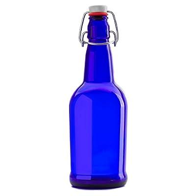 Chef's Star CASE OF 6 - 16 oz. EASY CAP Kombucha / Beer Bottles - BLUE