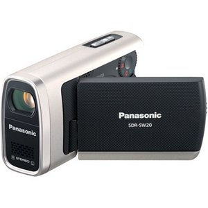Panasonic SDR-SW20 - Camcorder - widescreen - 680 Kpix - optical zoom: 10 x - supported memory: MMC, SD, SDHC - flash card