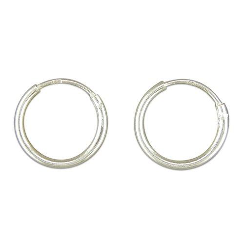 Sterling Silver 12mm Hinged Sleeper Earrings