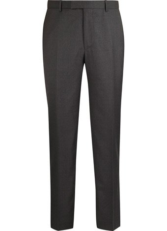 Austin Reed Slim Fit Charcoal Twill Trousers REGULAR MENS 36