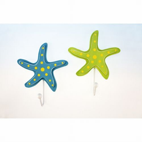 Polka Dot Starfish Wall Hooks - Set Of Two front-63820