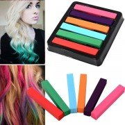 6-Color Fashion Hair Color Soft Chalk Non-Toxic Temporary Salon Color Hair Chalk Dye Pastels
