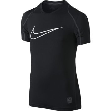 Nike Pro Cool HBR Fitted Boys' Short-Sleeve Top (Black,Small)