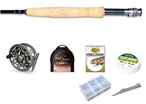 Beginner Cortland Professional 444 Fly Fishing Outfit 9 Foot 5 Weight Rod Reel Line and much more