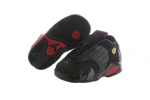 Images for NIKE JORDAN 14 RETRO (TD) TODDLER 312093-010 (5, BLACK / VARSITY RED - BLACK)