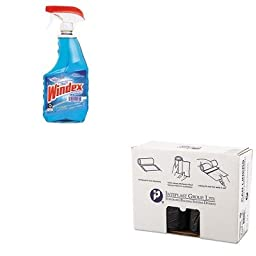 KITDRA90135EAIBSS404822K - Value Kit - IBS S404822K High Density Commercial Coreless Roll Can Liners, Black (IBSS404822K) and Windex Powerized Glass Cleaner with Ammonia-D (DRA90135EA)