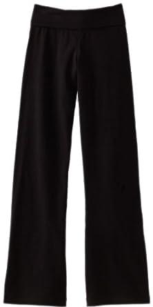 Soffe Big Girls' Yoga Pant, Black, Small