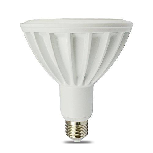 Lohas® Par38/16W/E27 Soft White Led Par38 Spotlight,64W Equivalent Halogen Lamp,Ivory Alumium Lamp Body