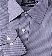 Cotton Rich Non-Iron Striped Shirt
