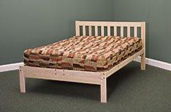 Twin Size Charleston Platform Bed Frame - Solid Hardwood