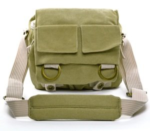 Cosmos Khaki Green Shoulder Canvas Outdoor Camera Bag/deluxe Photo/video Camera Gadget Bag for Canon Nikon Sony Olympus Kodak Panasonic Fuji Digital DSLR Cameras + Cosmos Cable Tie