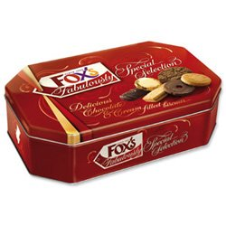 Foxs Fabulously Special Biscuits Chocolate or Cream Filling 11 Varieties Tin 720g Ref A07454