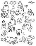 Football/Basketball Embellishments - Shrinkles