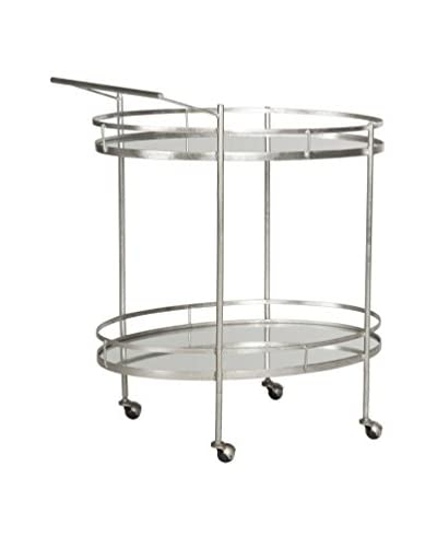 Safavieh Dante Bar Cart, Silver/Mirror Top