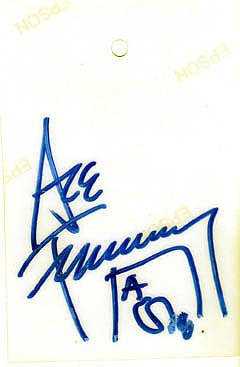 KISS Ace Frehley Autographed Signed Back Stage Pass JSA at Amazon's