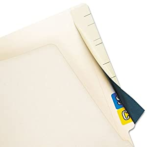 Tabbies® - Cov'R'Tab Self-Adhesive Color Code Cover, 2-1/2 x 8, Manila, 50/Pack - Sold As 1 Pack - Re-use file folders by covering old end tab labels.