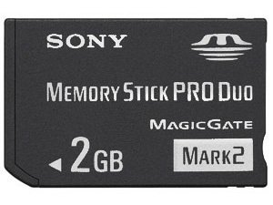 2 GB Sony PRO DUO (Mark 2) Memory Stick for PSP