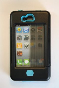 Iphone 4 Case Black W/ Turquoise Accents Iphone 4 Case Black W/ Turquoise Accents