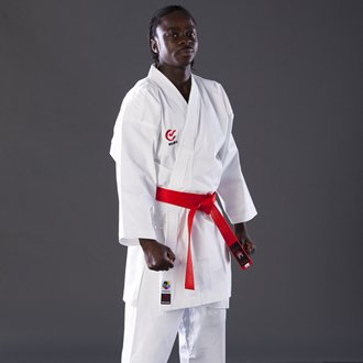 Blitz Sport Adult White 8oz Elite WKF Competition Karate Suit