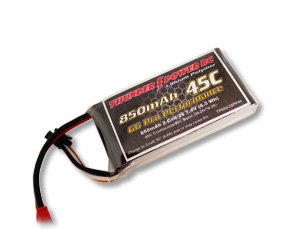 Thunder Power RC G6 Pro Performance 45C 850mAh 2-Cell/2S 7.4V Lipo Battery