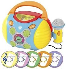 Jam N' Groove Boombox With Microphone Portable Stereo Toddler