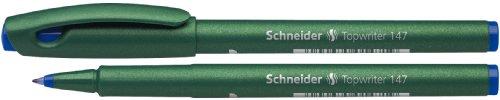 Schneider Topwriter 147 - Bolígrafo de tinta gel azul (10 unidades)