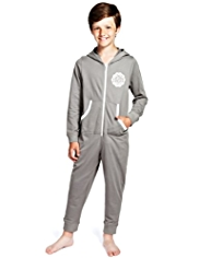 Pure Cotton Hooded Sweat Onesie