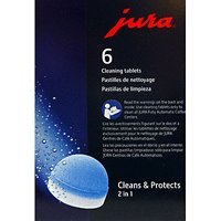 Jura 2-Phase Cleaning and Descaling Tablets for Fully Automatic Coffee Machines, 6 Count