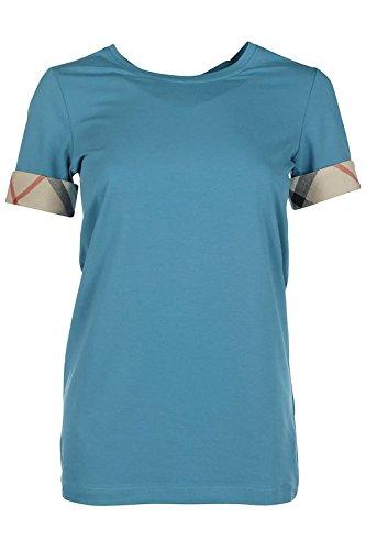 Burberry t-shirt maglia maniche corte girocollo donna nuova azzurro EU XL (UK 16) YSM8236746060