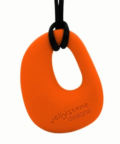 1 X Organic Pendant - Silicone Necklace (Teething/Nursing) (Carrot)