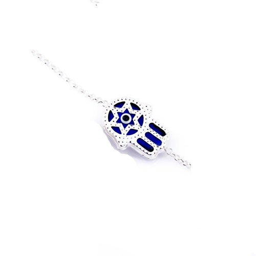 Hamsa Star of David Blue Bracelet