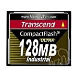 TRANSCEND TS128MCF100I 128MB Industrial Ultra Speed CompactFlash Card