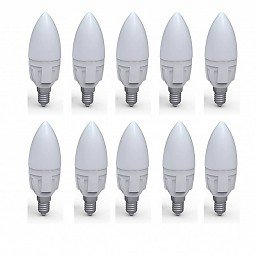 zzia LED E14candle 6W 3000K 530lm 10Box 30000h Frosted 230V