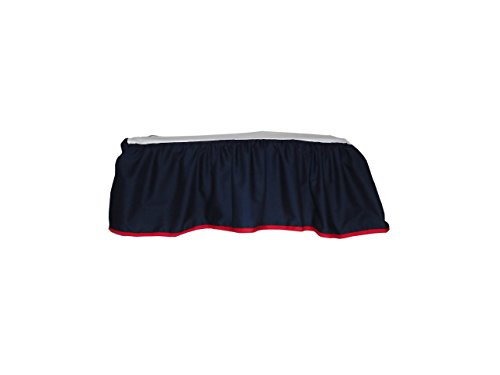 Baby Doll Solid Reversible Crib Dust Ruffle, Navy/Red