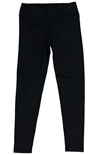 90 Degree by Reflex - Kids Girls Juniors - Fleece Lined Yoga Leggings - Black L (12) (Girls Yoga Pants compare prices)