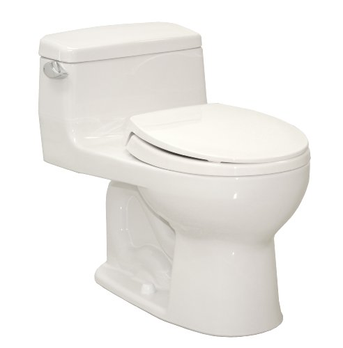 Toto Ms863113#01 Supreme Round One Piece Toilet, Cotton White front-920830