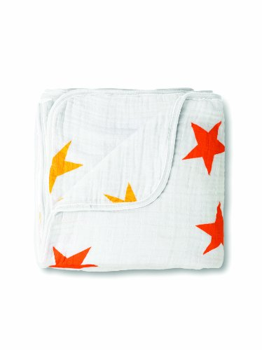 Aden + Anais Super Star Muslin Dream Blanket (Orange/ Yellow)