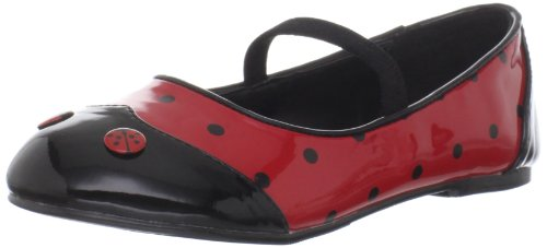 Funtasma Kid's Ladybug-18C/BR Flat,Black/Red Patent,14 M US - 1