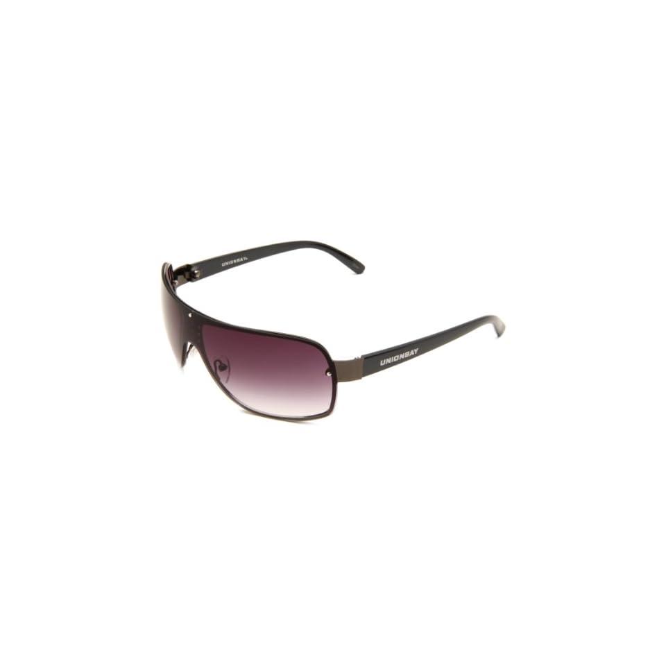 a492166220 Union Bay U851 Gunmetal Shield Sunglasses on PopScreen