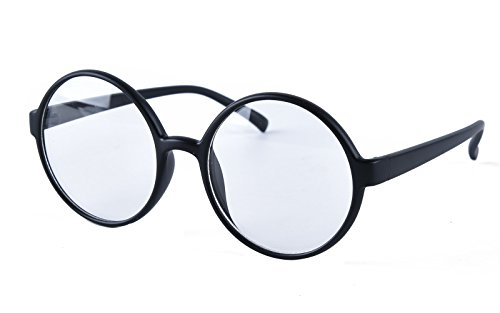 Agstum Retro Round Glasses Frame Clear Lens Fashion Circle ...
