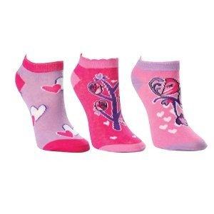 Kids/Childrens Girls Love Birds Design Trainer Socks (Pack of 3)