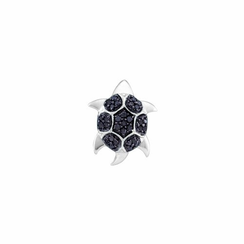 "Diamond Pendant 0.23Ctw Diamond ""Tortoise"" Pendant 14Kt White Gold"