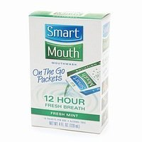 SmartMouth 12 Hour On-the-Go Mouthwash Packets,