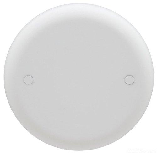 Carlon CPC4WH Ceiling Fan Box Cover, Round, Blank, 4-Inch Diameter, White
