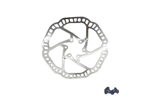 Buy Low Price Kanzo DB-07 Disc Brake Rotor MTB Bike Stainless 160mm Silver w/ Bolts (BKaBrDB07160S)