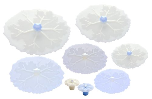 Charles VIANCIN The Snowflake 8pc Universal Silicone Food Storage Suction Lid Set