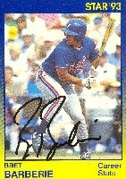 Bret Barberie Montreal Expos 1993 Star Autographed Hand Signed Trading Card. by Hall+of+Fame+Memorabilia